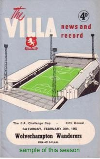 Image for Programmes - Aston Villa 1964-65 Season