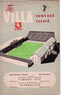 Image for Programmes - Aston Villa 1955-56 Season