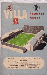 Image for Programmes - Aston Villa 1952-53 Season
