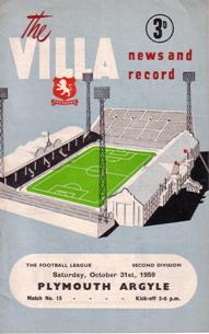 Image for Programmes - Aston Villa 1959-60 Season