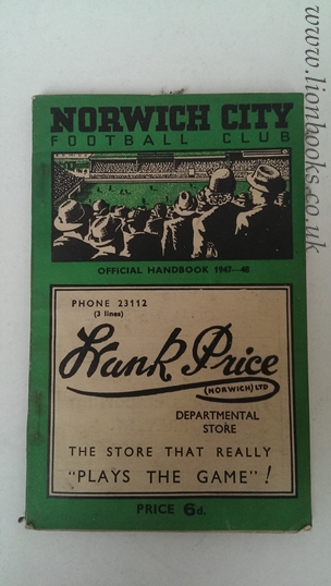 Image for Norwich City Football Football Club Official Handbook 1947-48