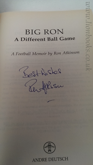 Image for Big Ron: a Different Ball Game A Football Memoir