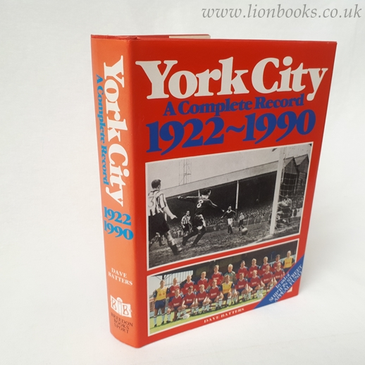 Image for York City  A Complete Record, 1922-90