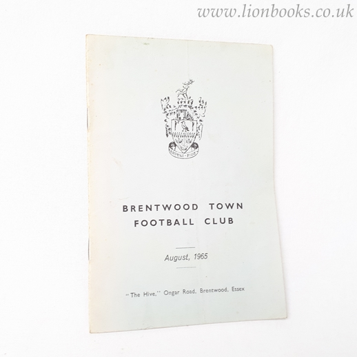 Image for Souvenir Handbook of the Newly Formed Brentwood Town Football Club